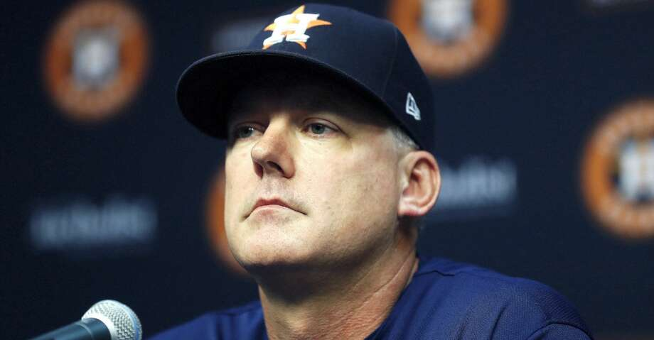 PHOTOS: Astros game-by-game Houston Astros manager AJ Hinch during a press conference announcing Hinch's contract extention before the start of an MLB baseball game at Minute Maid Park, Thursday,  August 30, 2018, in Houston. Browse through the photos to see how the Astros have fared in each game this season. Photo: Karen Warren/Staff Photographer