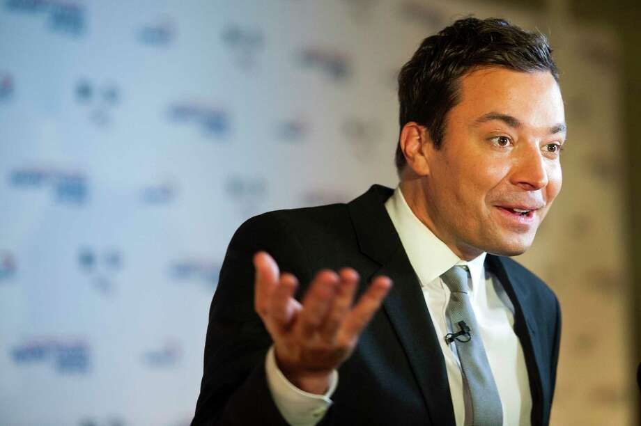 "Jimmy Fallon's ""Tonight Show"" steered away from politics - and Stephen Colbert's more partisan ""Late Night"" surpassed it in viewership. Photo: Washington Post Photo By Katherine Frey / The Washington Post"