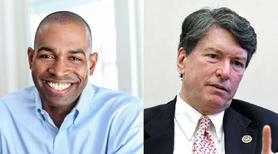 Freshman Republican Rep. John Faso (right) and Democrat Antonio Delgado (left) are essentially 
