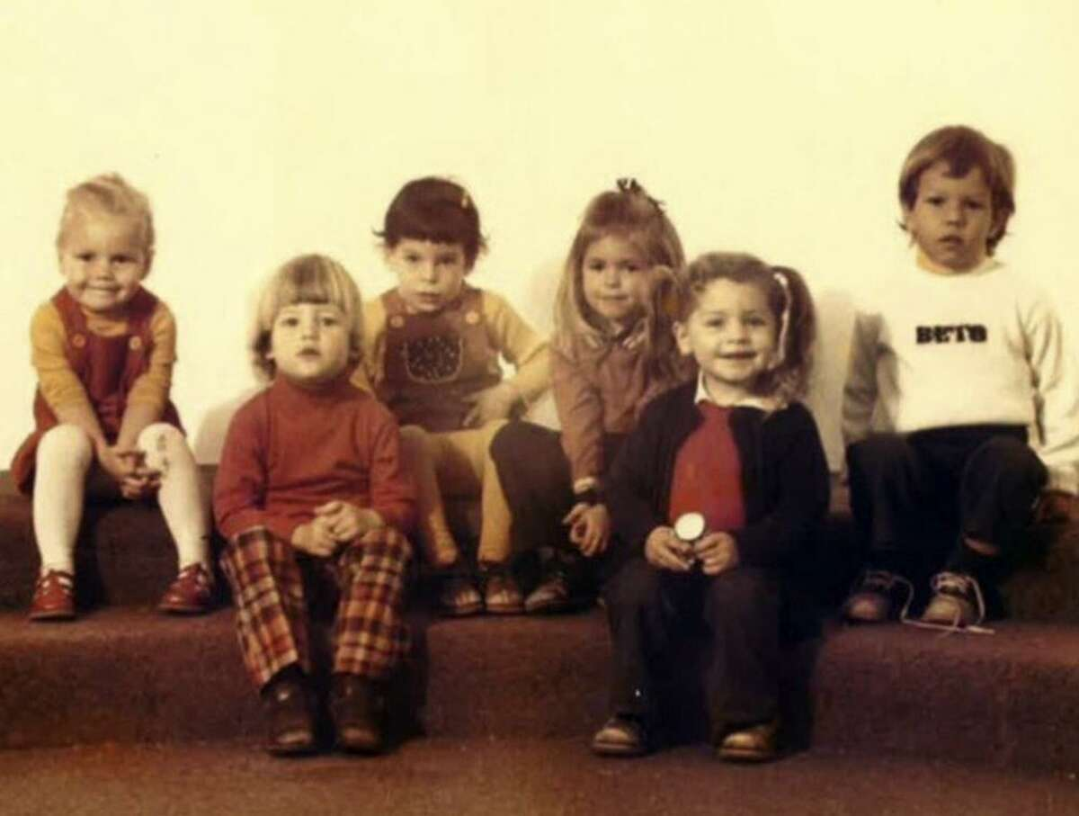 Preschool photo of El Paso Congressman Beto O?'Rourke, wearing a sweater that declares the nickname his family gave him.