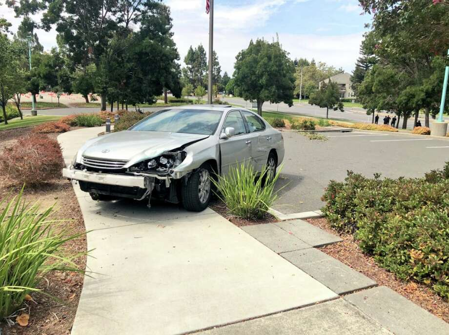Police said a man suspected of driving under the influence crashed into the Fremont Police Department on Thursday, Aug. 30, 2018. Photo: Fremont PD