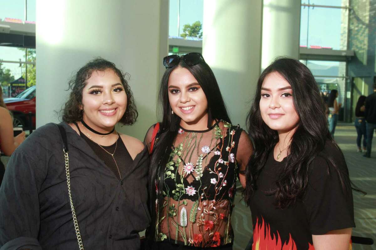 Fans attending the Bad Bunny Concert at Smart Financial Centre at Sugar Land.