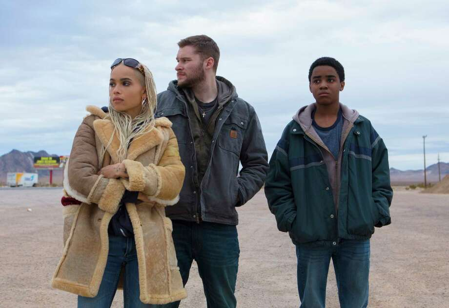 """This image released by Lionsgate shows Zoe Kravitz, from left, Jack Reynor and Myles Truitt in a scene from """"Kin."""" (Alan Markfield/Lionsgate via AP) Photo: Alan Markfield / Lionsgate"""