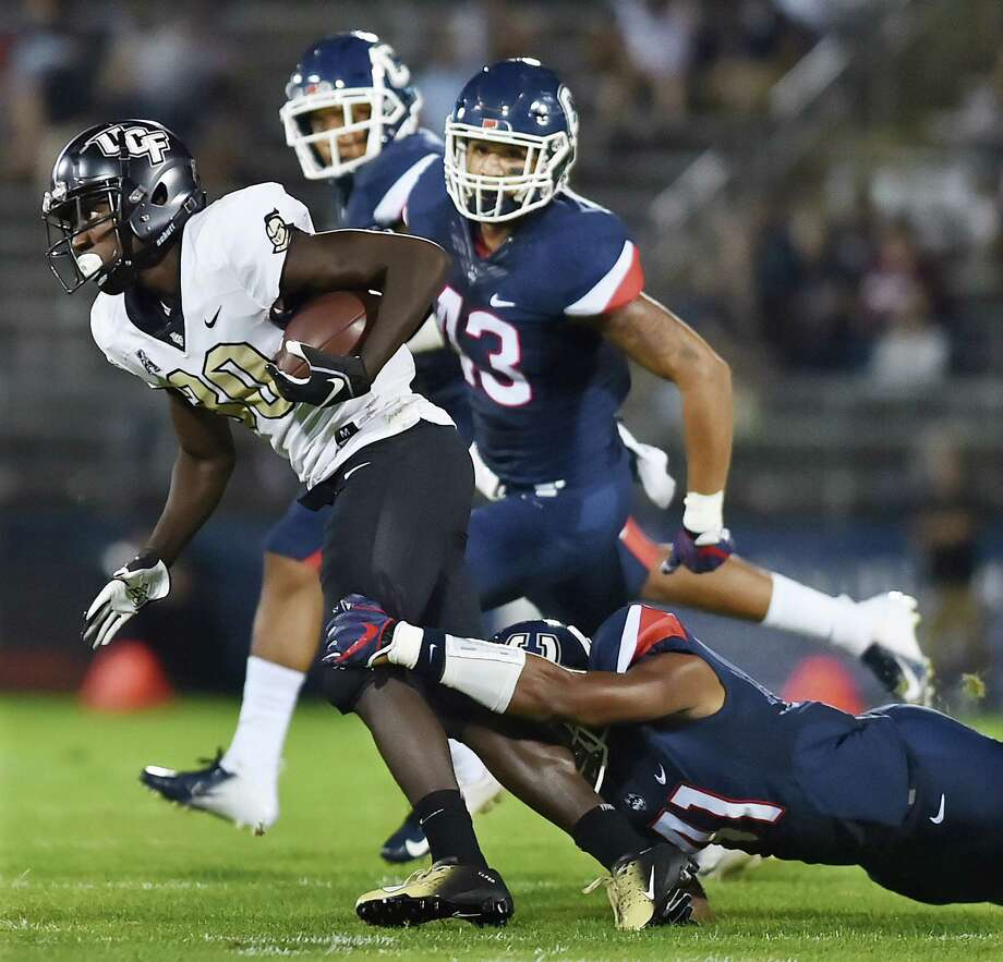 The University of Central Florida defeats UConn, 56-17, in the season opener in the American Athletic Conference  Thursday night August 30, 2018, at Pratt & Whitney Stadium at Rentschler Field in East Hartford. Photo: Catherine Avalone, Hearst Connecticut Media / New Haven Register