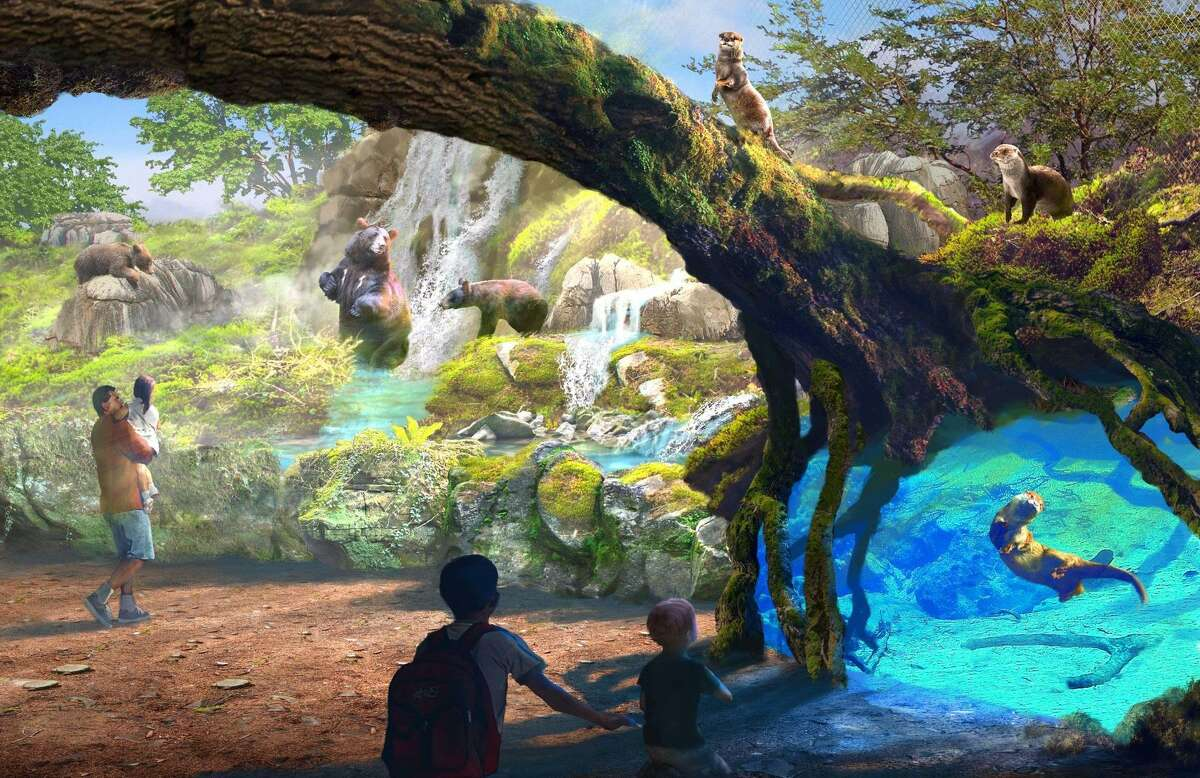 """This is a conceptual drawing of """"Riverwalk,"""" one of the habitats that the San Antonio Zoo could build as part of a $200 million expansion program planned for the next 20 years."""