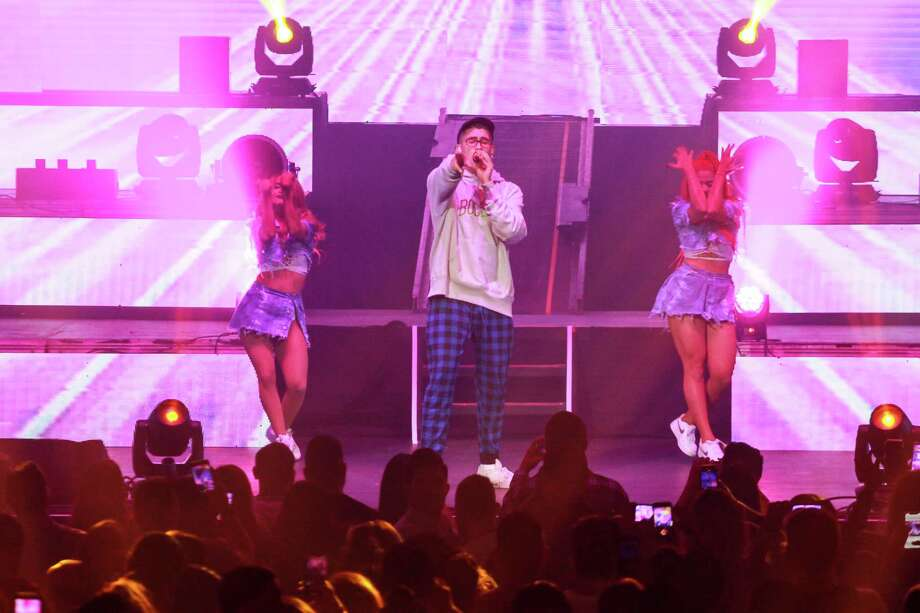 Bad Bunny in concert at Smart Financial Centre at Sugar Land. Photo: Gary Fountain, Contributor / © 2018 Gary Fountain
