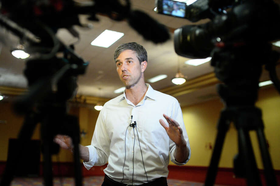 U.S. Rep. Beto O'Rourke speaks at a town hall event Aug. 30, 2018, at the Grand Texan Hotel Convention Center in Midland, Texas. James Durbin/Reporter-Telegram Photo: James Durbin / ? 2018 Midland Reporter-Telegram. All Rights Reserved.