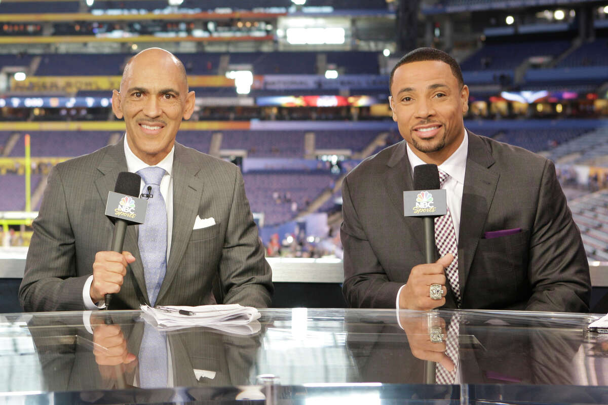 NBC's Tony Dungy (left) and Rodney Harrison expressed optimism about the Texans' prospects - provided certain players stayed healthy.