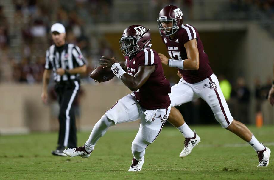 Texas A&M Aggies running back Vernon Jackson (3) rushes the ball against the Northwestern State Demons during the third quarter at Kyle Stadium Thursday, Aug. 30, 2018, in College Station, Texas. Photo: Godofredo A. Vasquez/Staff Photographer