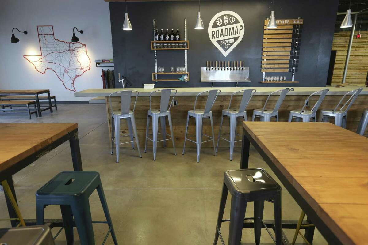 The soon-to-open Roadmap Brewing Co., located at 723 N. Alamo St., features large tables for group socializing.