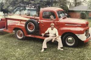 Don Kenney sits on the stepside of his 1949 Ford F3 pickup truck in 1982. He inherited the truck from his uncle in 1976. (Photos courtesy of Don Kenney)