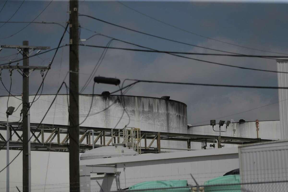 Storage tanks in the region had leaks after Hurricane Harvey in Houston. ( Elizabeth Conley / Houston Chronicle )