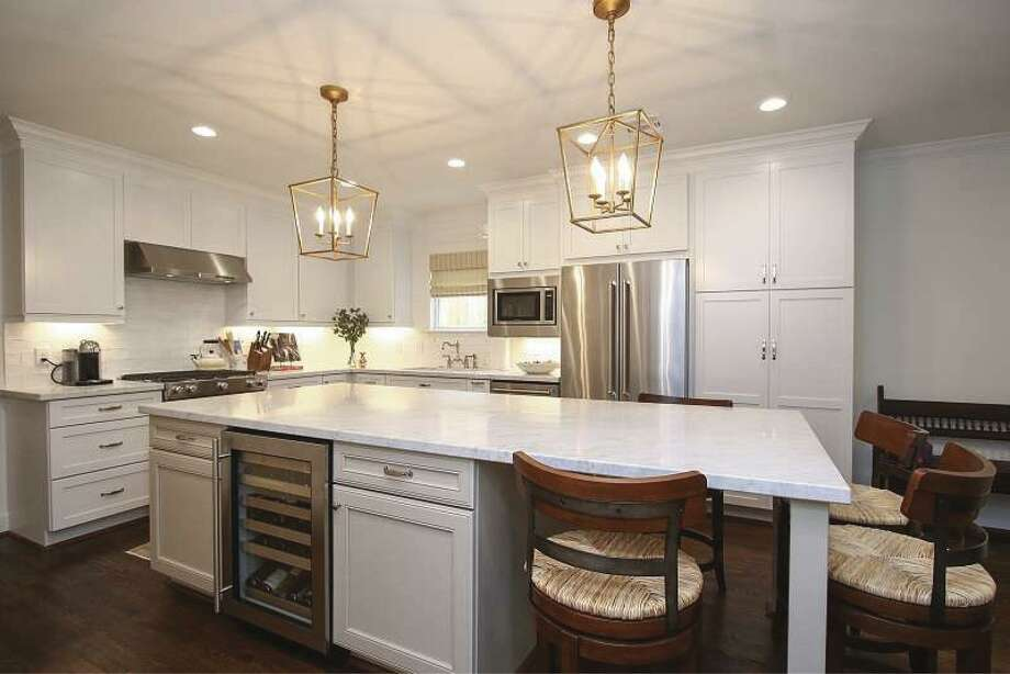 This remodel allows for a more open kitchen.