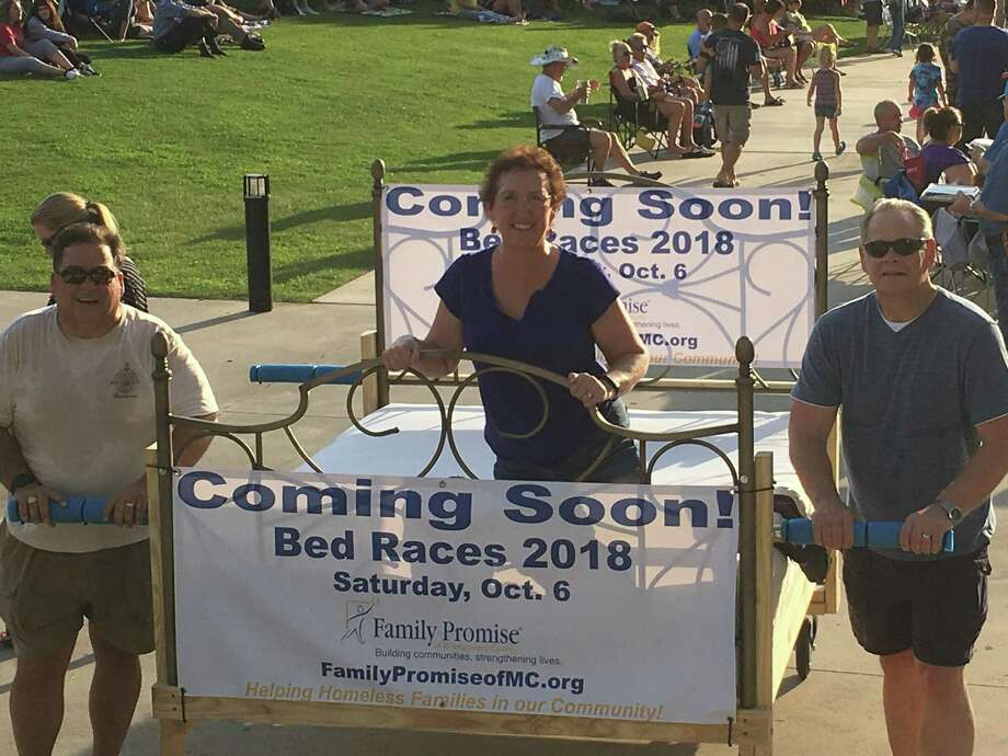 Family Promise of Montgomery County announces the inaugural 2018 Bed Races for Saturday, Oct. 6, at 7 a.m. at Heritage Park in downtown Conroe. Teams of 5 can compete in 4 categories; Youth, Adult, Business, or Government Agency. A team consists of 4 pushers and 1 rider; who must remain on the bed the entire time the bed is pushed down the street. Teams can register at https://www.familypromiseofmc.org/bed-races. Photo: Courtesy Photo