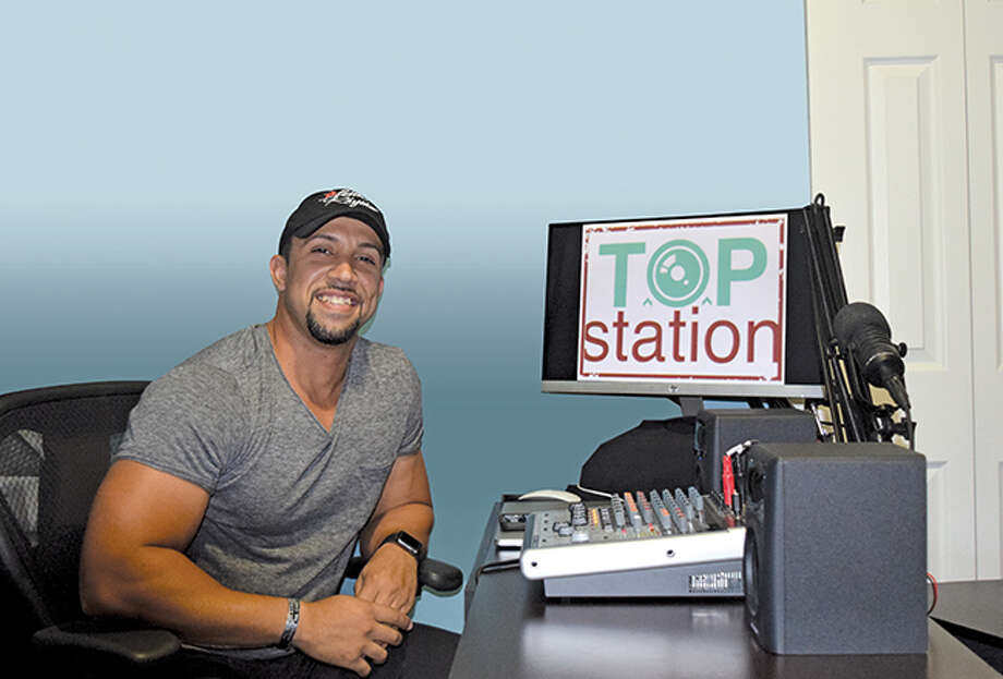 "Eddie ""Tranzcendent"" Martinez at his TOP Station studio in Bridgeport. Photo: Phil Hall"