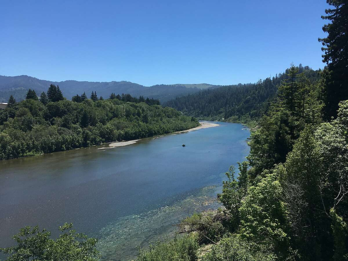 The Eel River seen from Grizzly Bluff Road near Rio Dell, Humboldt County. Day 10