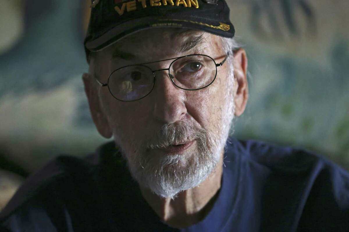 """Vietnam veteran Michael Thompson, 67, was exposed to Agent Orange while servicing planes on a carrier off the coast of Vietnam. He is fighting the Veterans Administration to recognize Blue Water Navy veterans as victims of Agent Orange exposure. """"They say there's no credible science to our claims,"""" he says. """"My answer to them is that the battlefields are littered with credible science and people like me are dropping like flies."""""""
