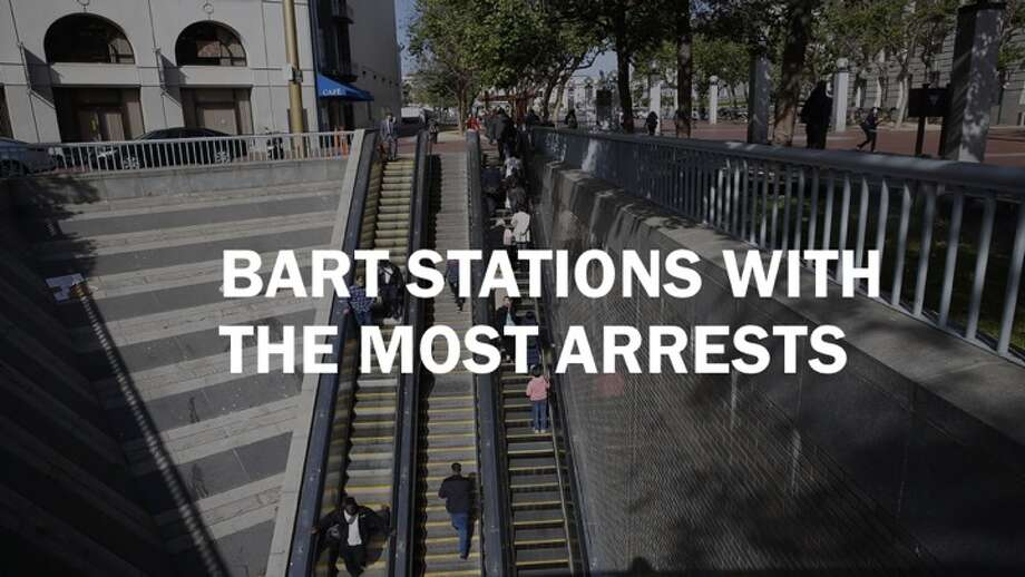 Here are the top 12 BART stations with the most arrests in 2017. Photo: Liz Hafalia/The Chronicle