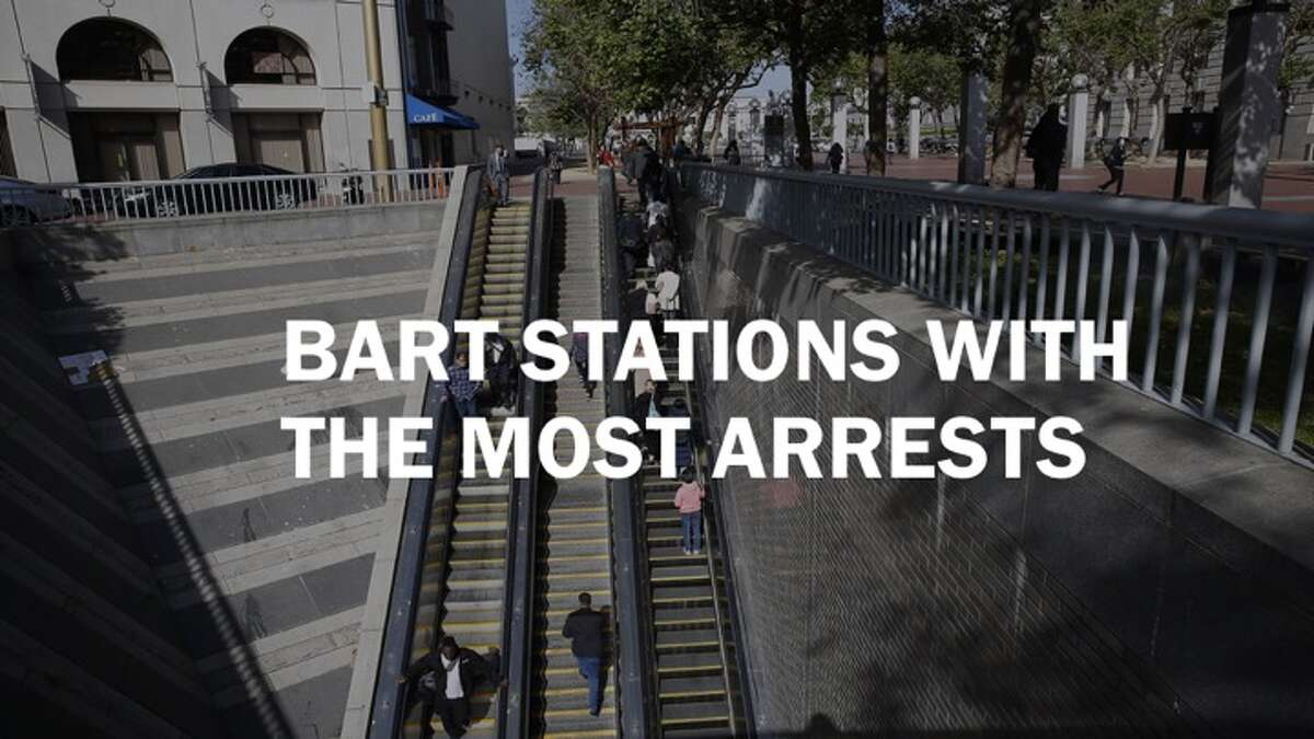 Here are the top 12 BART stations with the most arrests in 2017.