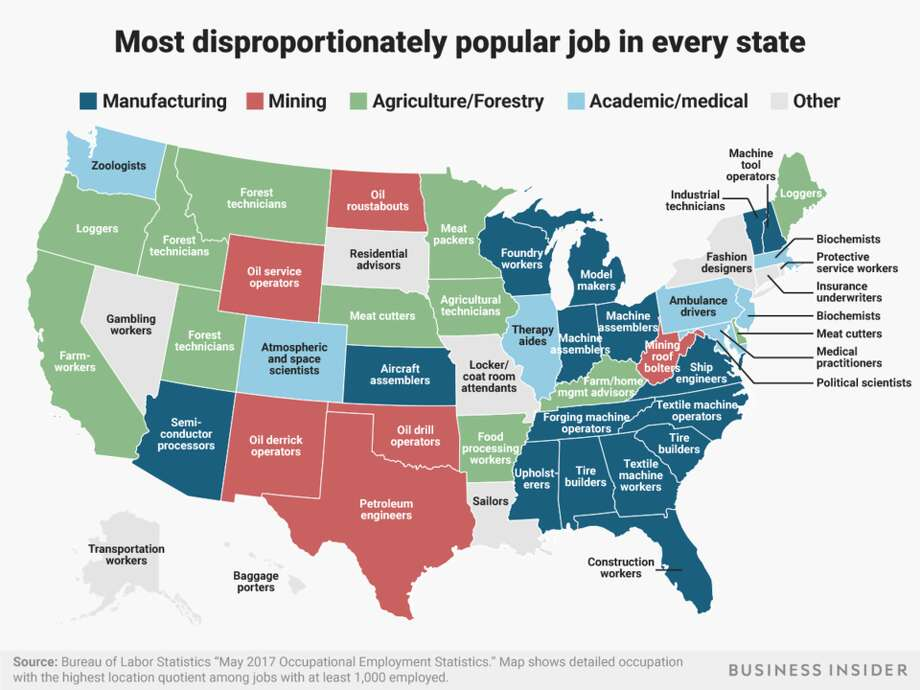 Photo: Business Insider/Andy Kiersz, Data From Bureau Of Labor Statistics