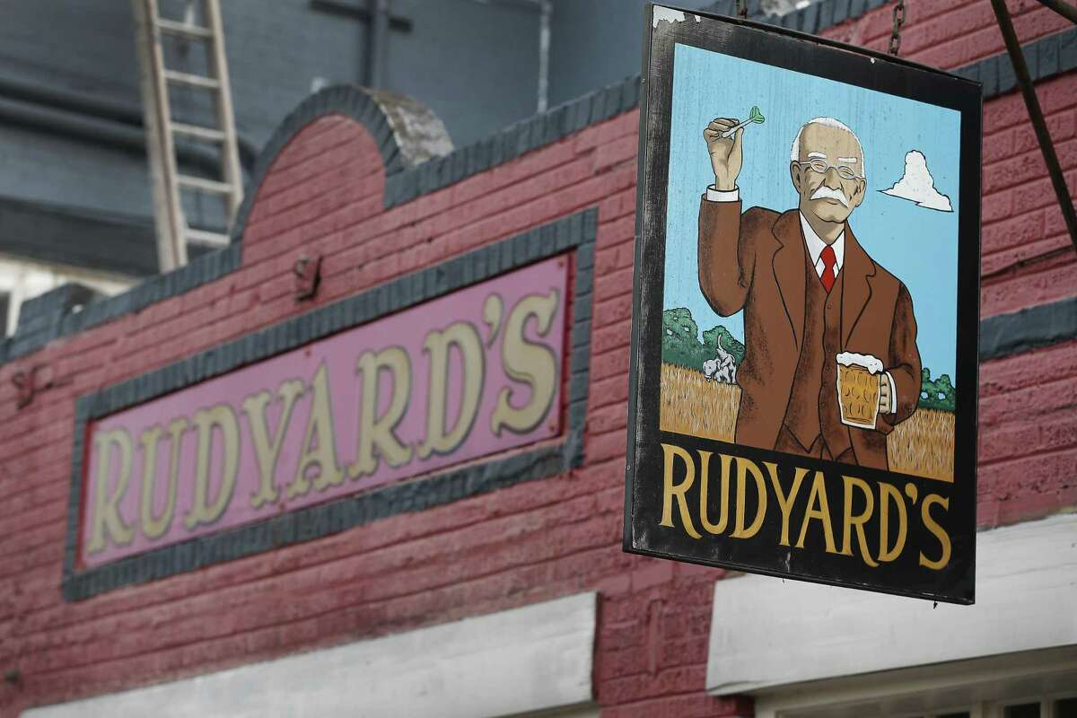 The exterior signs at Rudyard's British Pub Monday, Aug. 20, 2018, in Houston.