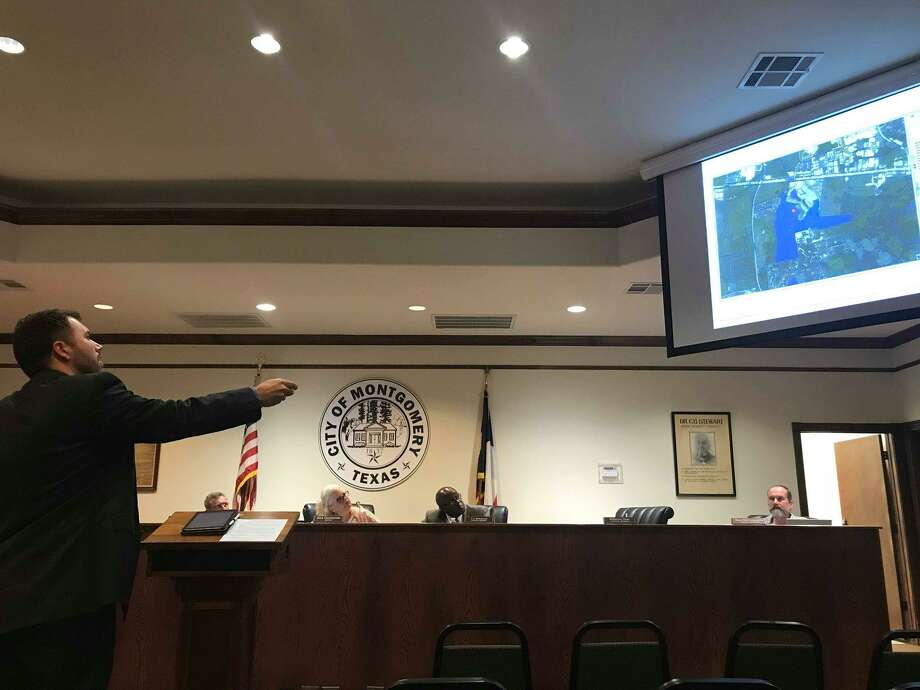 The city of Montgomery discussed whether or not to serve the proposed Montgomery  Ridge development with water and sewer facilities during the regular council meeting on Tuesday. Photo: Meagan Ellsworth / Meagan Ellsworth