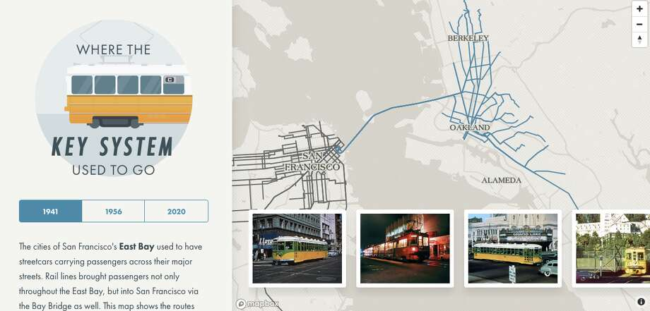Interactive maps show where streetcars used to go in San
