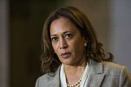 WASHINGTON, DC - AUGUST 21:  U.S. Sen. Kamala Harris (D-CA) speaks to members of the media on Capitol Hill August 21, 2018 in Washington, DC. Harris discussed the verdict in the trial of former Trump campaign chief Paul Manafort and her meeting with Supreme Court nominee Brett Kavanaugh.  (Photo by Zach Gibson/Getty Images)