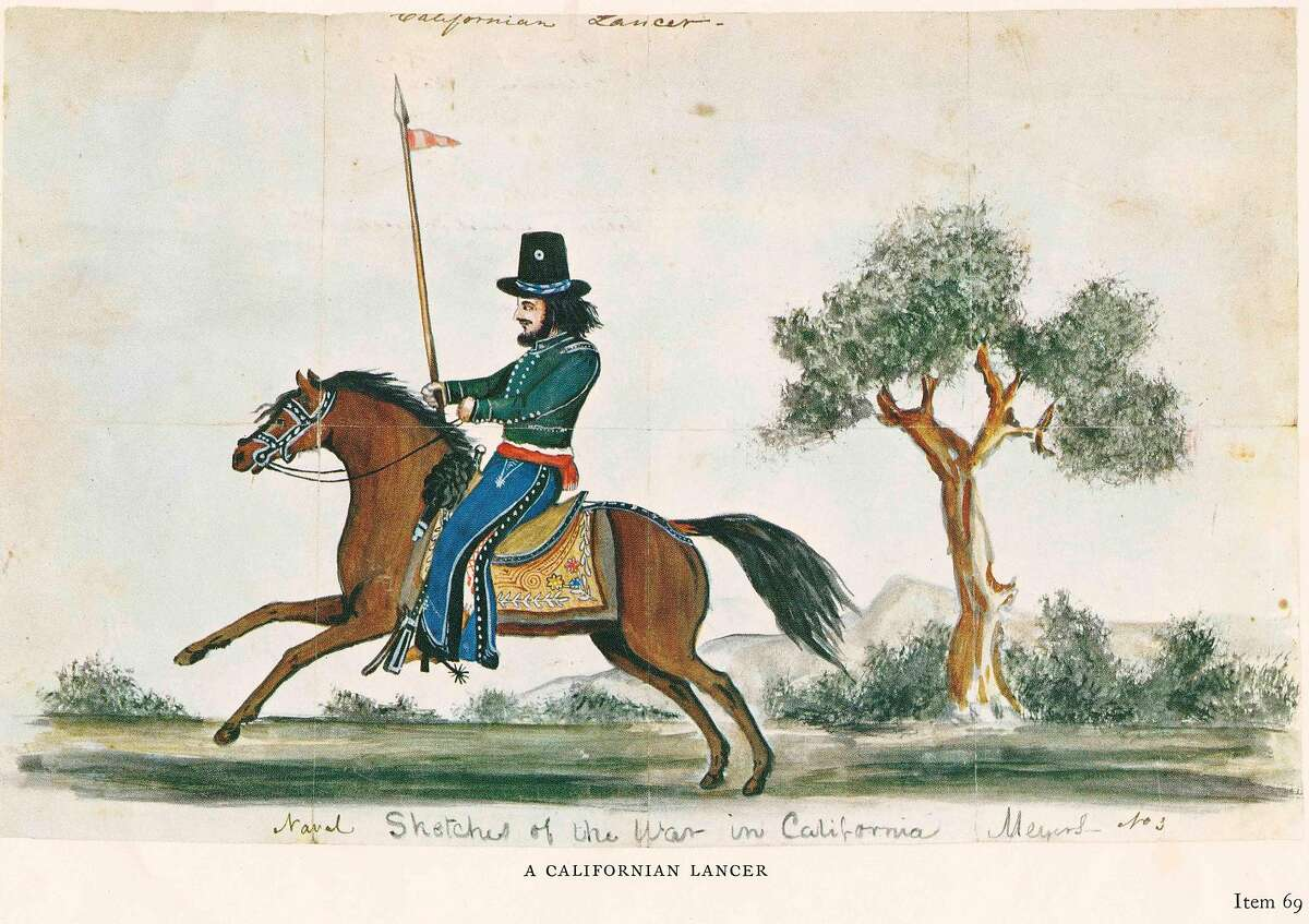 """""""Californios"""" -- native Californians -� enlisted in a new cavalry unit. The Army armed the new cavalrymen with an ancient weapon: the lance."""