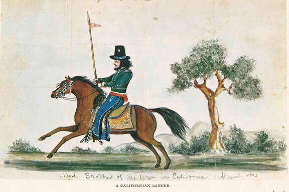 """""""Californios"""" —- native Californians —� enlisted in a new cavalry unit. The Army armed the new cavalrymen with an ancient weapon: the lance."""
