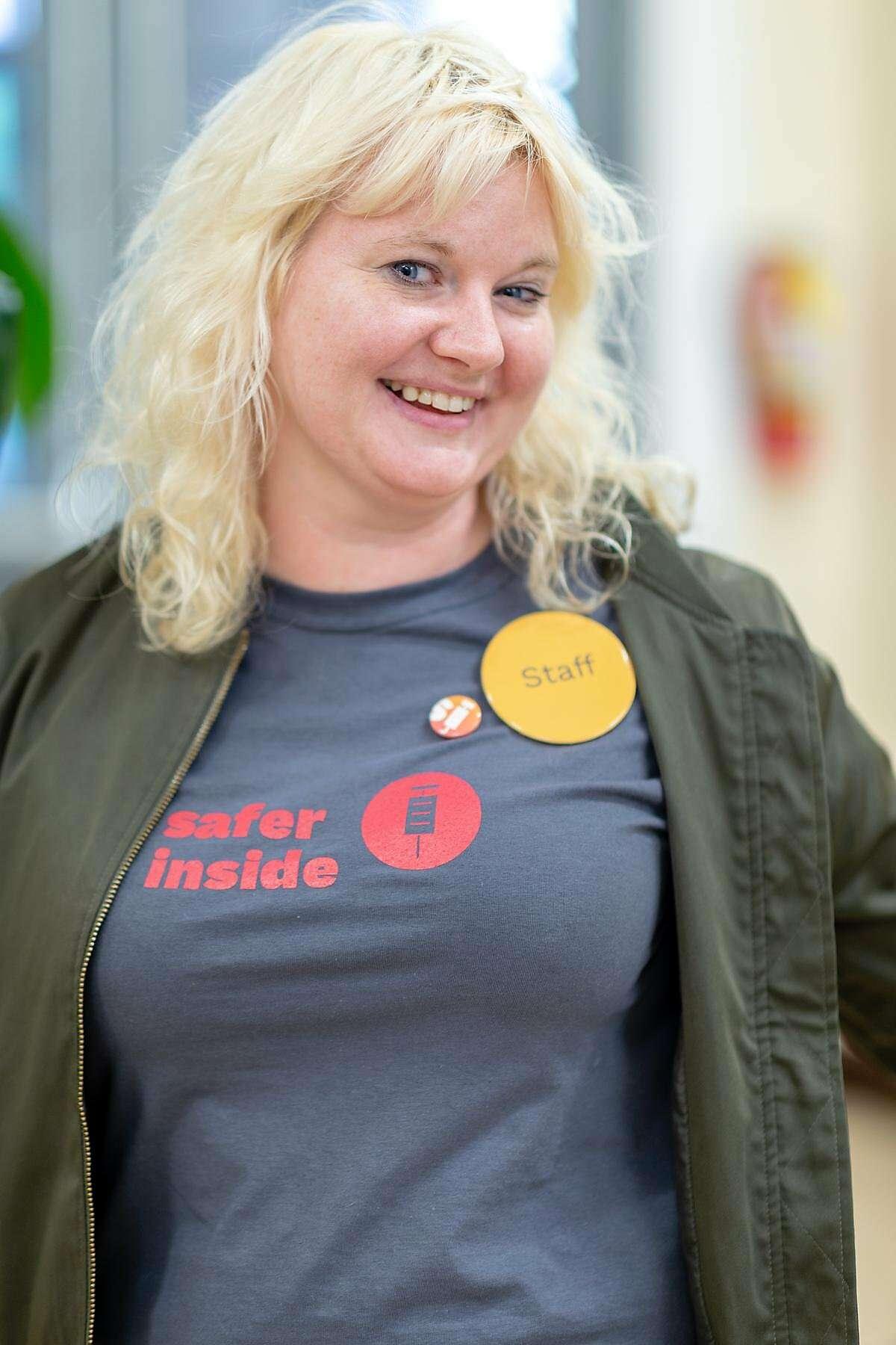 Injection site designer Jenny Kempson