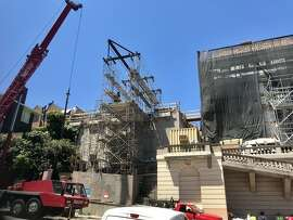 Renovation has continued for years at 2901 Broadway in San Francisco's Gold Coast, a mansion owned by Silicon Valley and downtown developer Jay Paul. Some neighbors aren't happy over the noise, traffic and parking inconveniences.