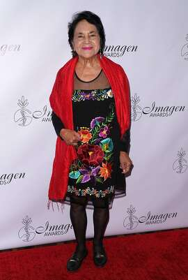 LOS ANGELES, CA - AUGUST 25:  Civil rights activist Dolores Huerta attends the 33rd Annual Imagen Awards at JW Marriott Los Angeles at L.A. LIVE on August 25, 2018 in Los Angeles, California.  (Photo by JC Olivera/Getty Images)