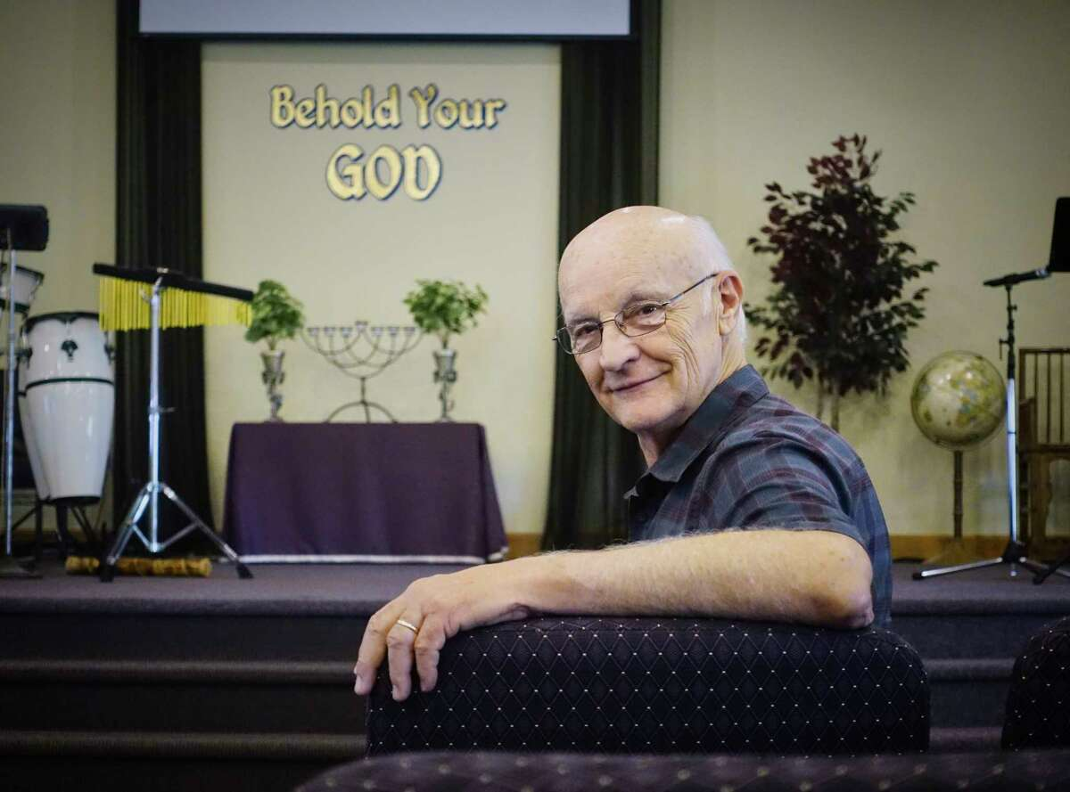 Pastor Jay Francis sits in the worship area of his church, Rock Road Chapel Ministries, on Wednesday, Aug. 29, 2018, in Berne, N.Y. (Paul Buckowski/Times Union)