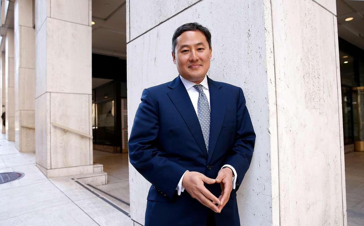 University of California Professor John Yoo poses for a portrait in downtown San Francisco, California on Fri. April 15, 2016.