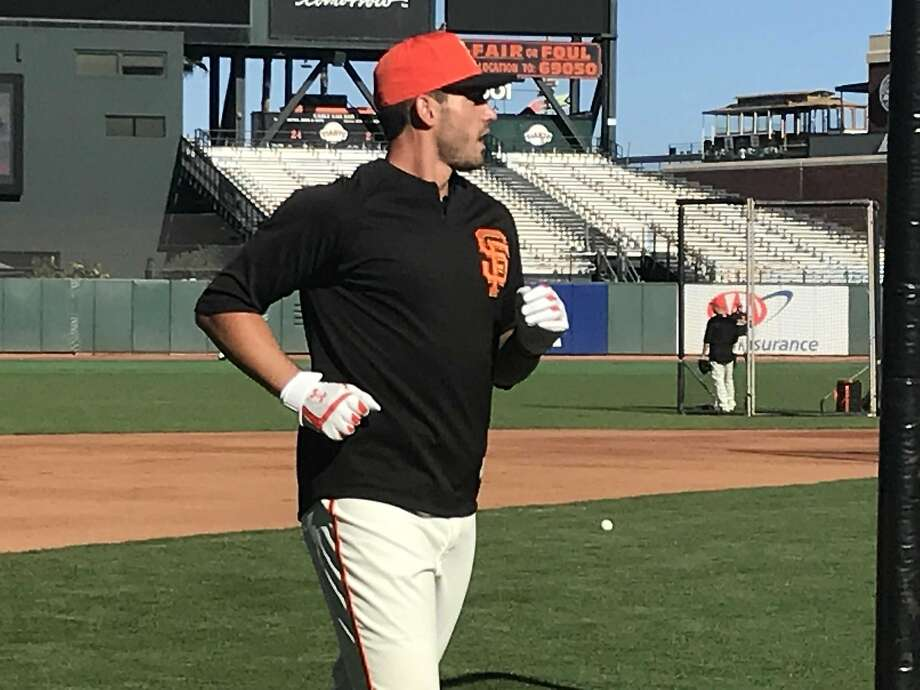 The Giants' Chris Shaw at AT& Park on Friday, his first day in the major leagues. Photo: John Shea / The Chronicle