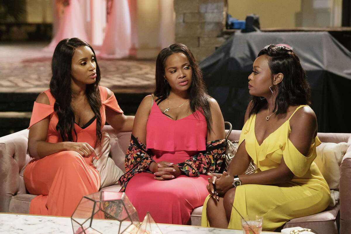 MARRIED TO MEDICINE -- Pictured: (l-r) Contessa Metcalfe, Heavenly Kimes, Quad Webb Lunceford -- (Photo by: Annette Brown)