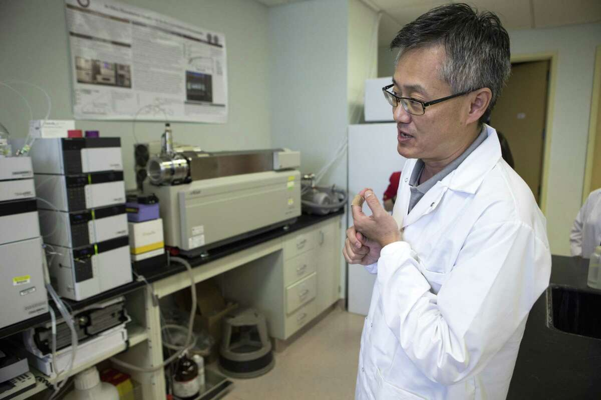 Dong Liang, Ph.D., works in the pharmacokinetics lab at Texas Southern University on Friday, Aug. 31, 2018, in Houston. TSU has received a $5 milloin state from the state cancer-fighting program to lead an effort making cutting edge technology available to multiple reserach institutions. The grant will fund work by the TSU College of Pharmacy analyzing the chemical properties of drugs.
