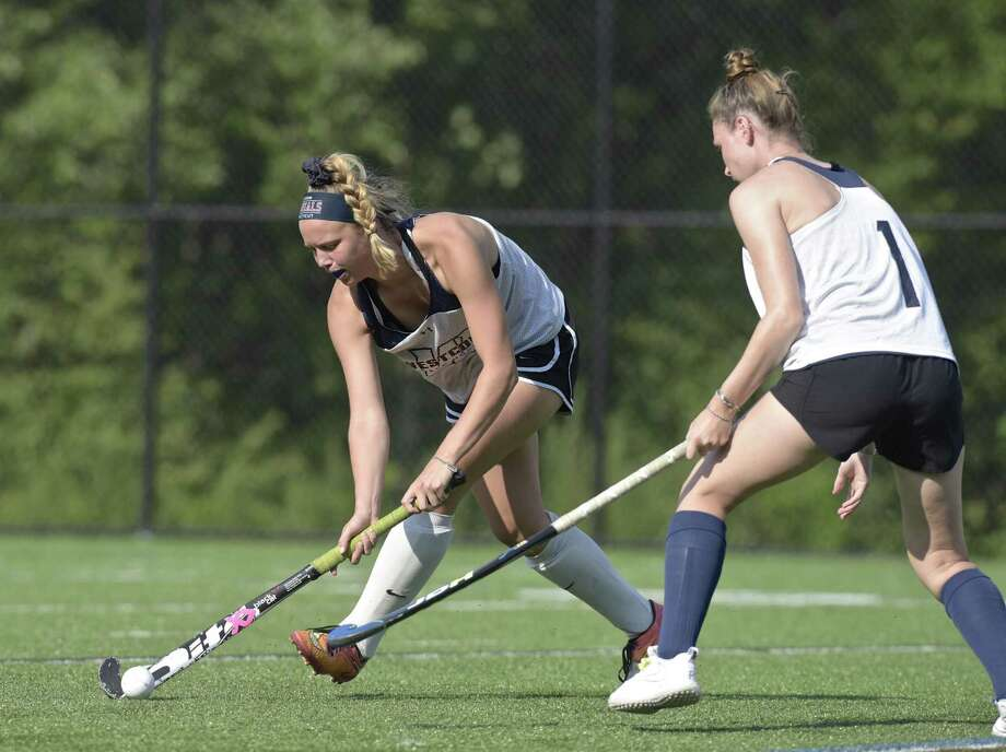 Morgan Matthews during Western Connecticut State University women's field hockey practice. Friday, August 24, 2018, Danbury, Conn. Photo: H John Voorhees III / Hearst Connecticut Media / The News-Times