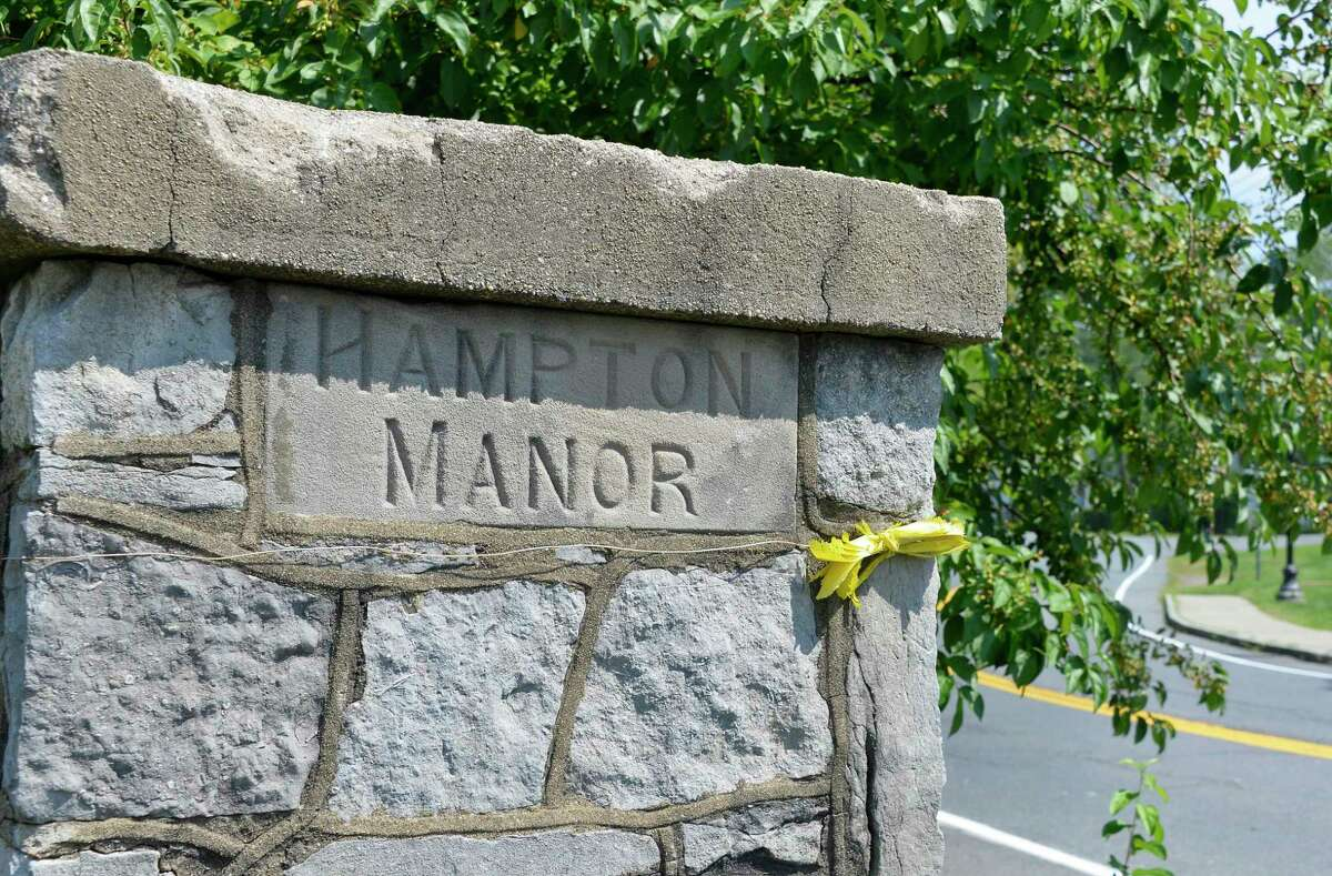 Hampton Manor marker at Hampton Avenue and Columbia Turnpike Wednesday August 29, 2018 in East Greenbush, NY. (John Carl D'Annibale/Times Union)