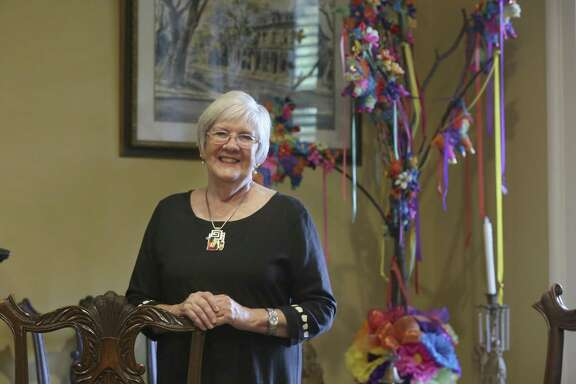 Susan Beavin said she likes to get to work early at the Anton Wulff House in the King William Historic District to have alone time to get things done.