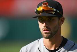 OAKLAND, CA - JULY 21:  Steven Duggar #6 of the San Francisco Giants looks on prior to the start of the game against the Oakland Athletics at the Oakland Alameda Coliseum on July 21, 2018 in Oakland, California.  (Photo by Thearon W. Henderson/Getty Images)