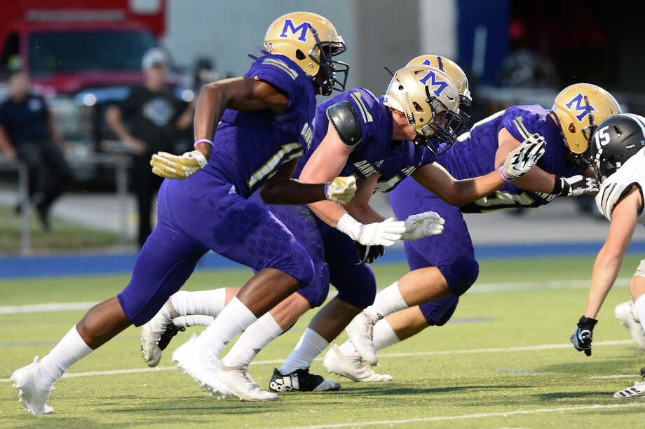 Midland High against Canyon Randall in the season-opening game Aug. 31, 2018, at Grande Communications Stadium. Click through to see area athletes that have signed their letter-of-intent to play collegiately in the 2018-2019 school year.  Photo: James Durbin / ? 2018 Midland Reporter-Telegram. All Rights Reserved.