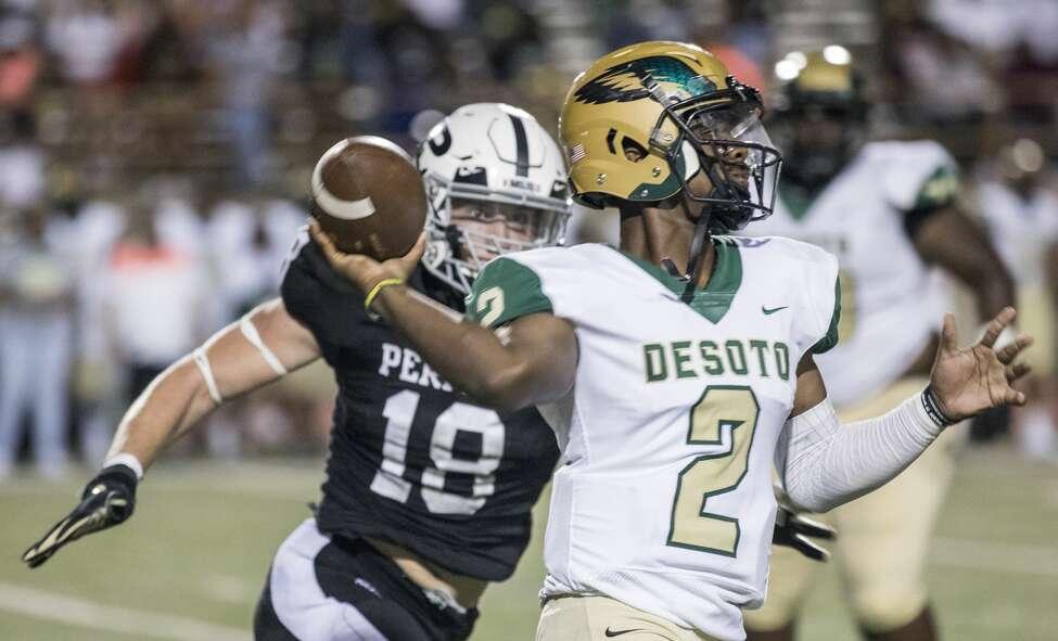 10. DeSoto (7-0) beat Grand Prairie, 54-7