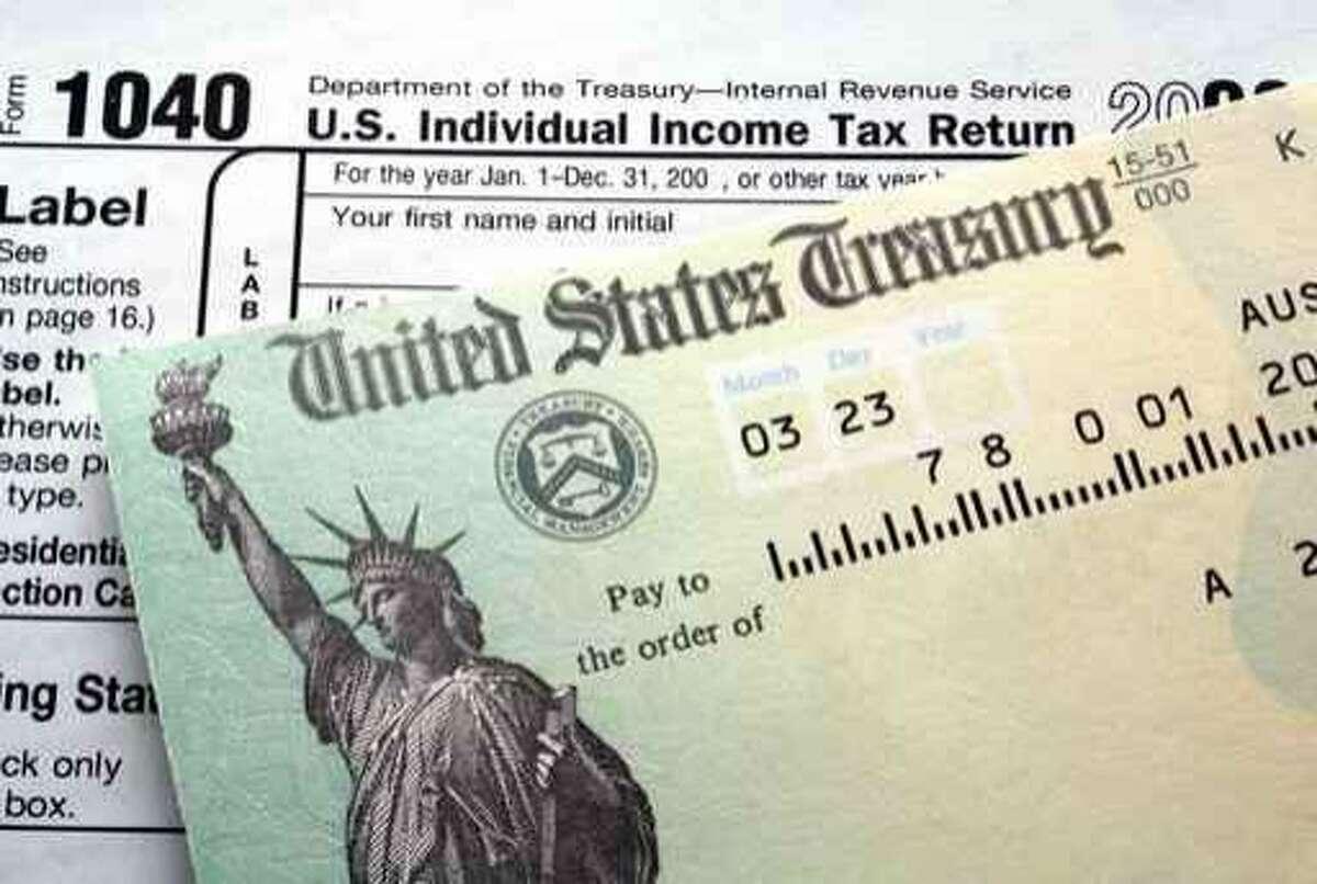 income tax return 1040; treasury check; stimulus check