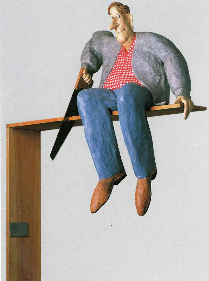 """""""Man on a Limb,"""" a papier-mâché work by Stephen Hansen, will be part of the fall exhibit at the Bruce Museum called """"ReTooled: Highlights from the Hechinger Collection."""" Photo: Photo Courtesy Of Joel Breger / Contributed / Greenwich Time Contributed"""