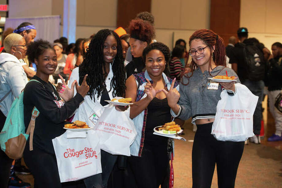 SIUE black students enjoy a time of fellowship and food Photo: SIUE Photo