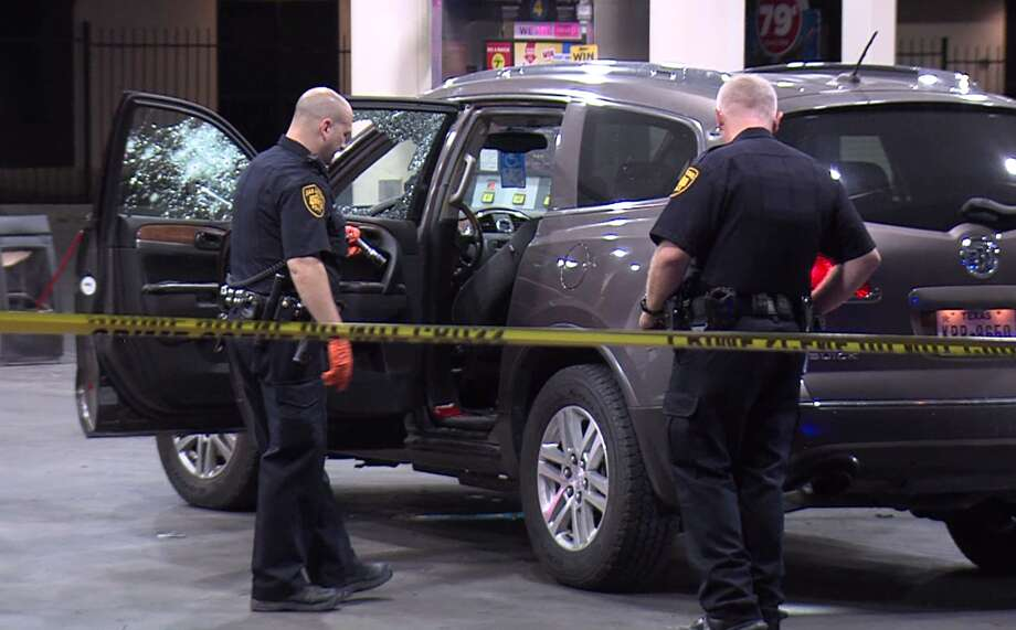 Bullet-riddled vehicle pulls into Northeast Side gas station