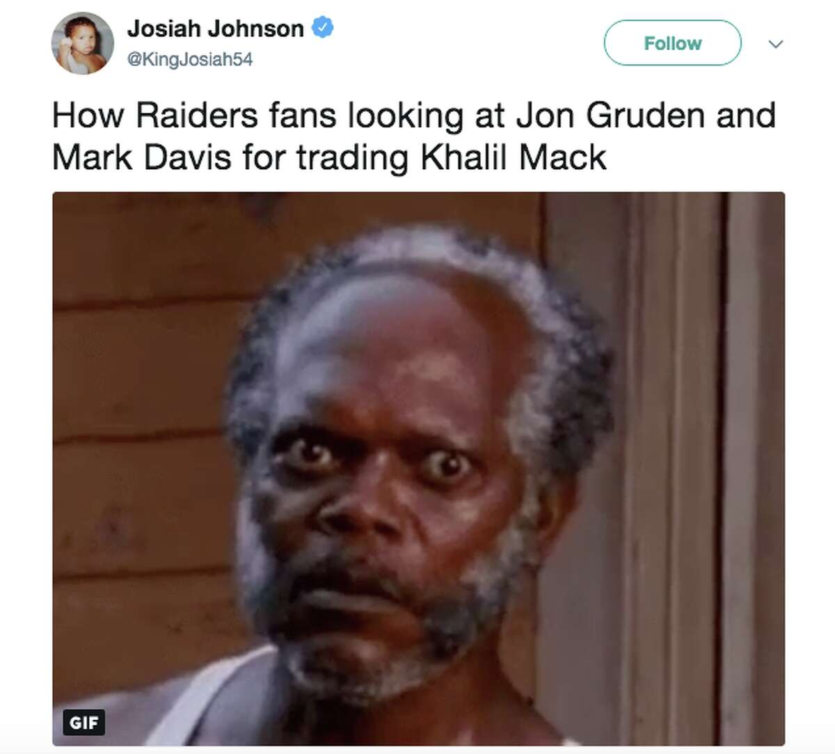 Oakland Raiders fans were not happy after the team traded Khalil Mack to the Chicago Bears.
