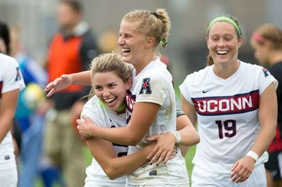 Stamford's Heidi Druehl has started all five matches for the UConn women's soccer team this season. Photo: UConn Athletics